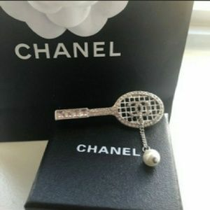 Authentic Chanel Tennis Brooch